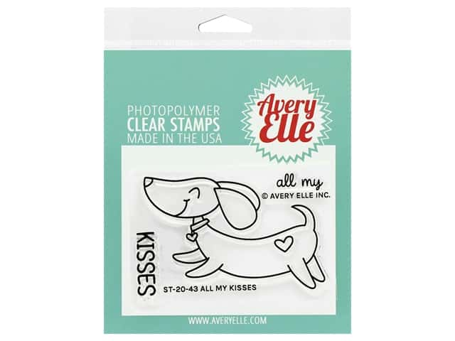 Avery Elle Clear Stamp All My Kisses