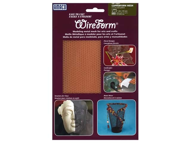 AMACO WireForm Metal Mesh 1/4 in. CopperForm Copper 16 x 20 in.