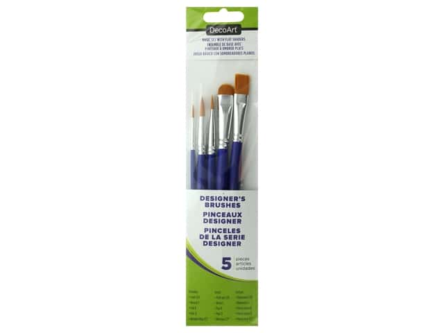 DecoArt Crafter's Brush Basics Set With Flat Shaders