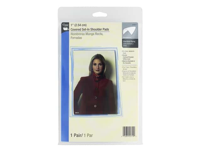 Dritz Covered Set In Shoulder Pads 1 in. White