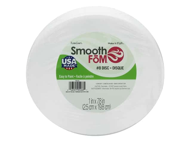 FloraCraft Smooth Foam Disc 8 x 1 in. 1 pc.