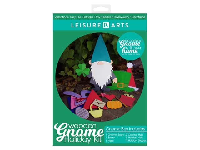 Leisure Arts Wooden Gnome Holiday Kit - Boy