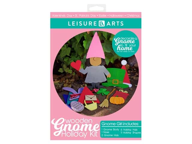 Leisure Arts Wooden Gnome Holiday Kit - Girl