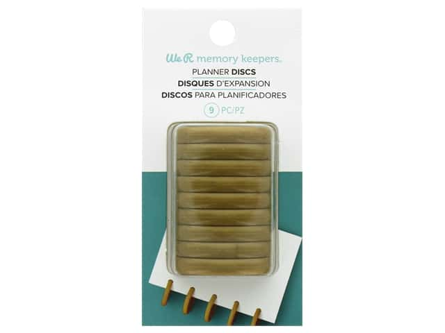 We R Memory Keepers Planner Discs - Gold 9 pc.