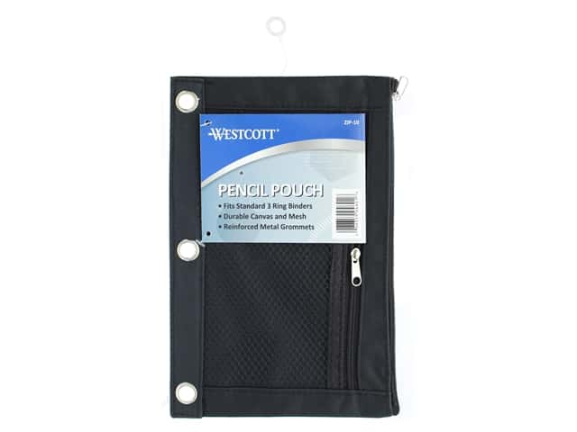 Westcott Pencil Pouch Mesh Black