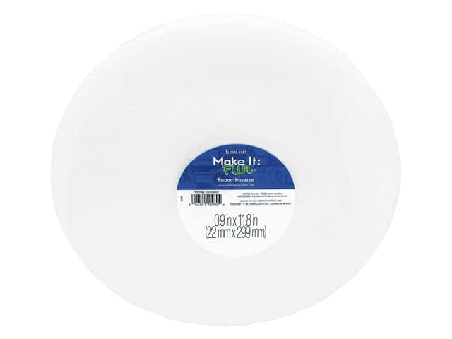 FloraCraft Styrofoam Disc - 12 x 1 in. White 1 pc.