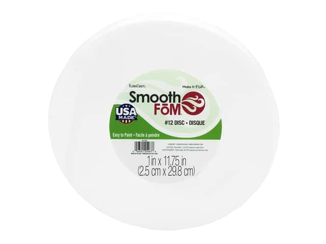 FloraCraft Smooth Foam Disc - 12 x 1 in. 1 pc.