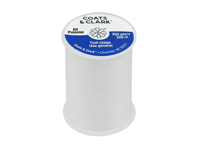 Coats & Clark All Purpose Polyester Thread 350 yd. White