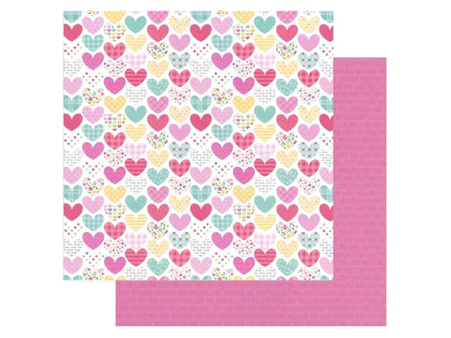Doodlebug Collection Made With Love Paper 12 in. x 12 in. Heartwarmer