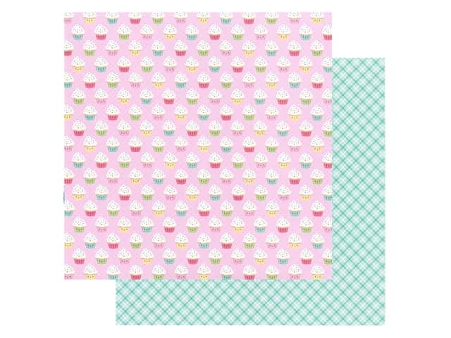 Doodlebug Collection Made With Love Paper 12 in. x 12 in. Cupcake Cuties
