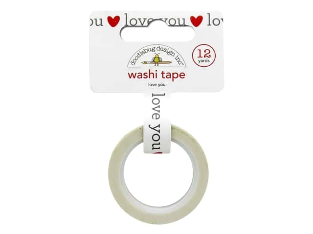 Doodlebug Washi Tape - Love Notes Love You