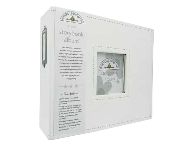 Doodlebug Storybook Album - 8 x 8 in. Lily White