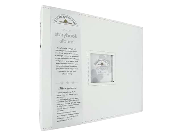 Doodlebug Storybook Album - 12 x 12 in. Lily White