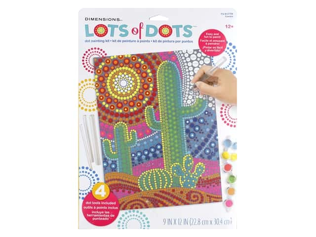 Dimensions Lots of Dots Dot Painting Kit - 9 x 12 in. Cactus
