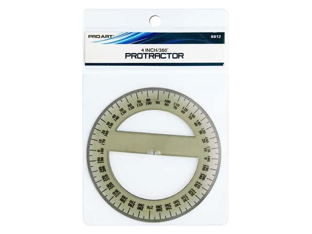 Pro Art 360 Degree Protractor - 4 in. Smoke
