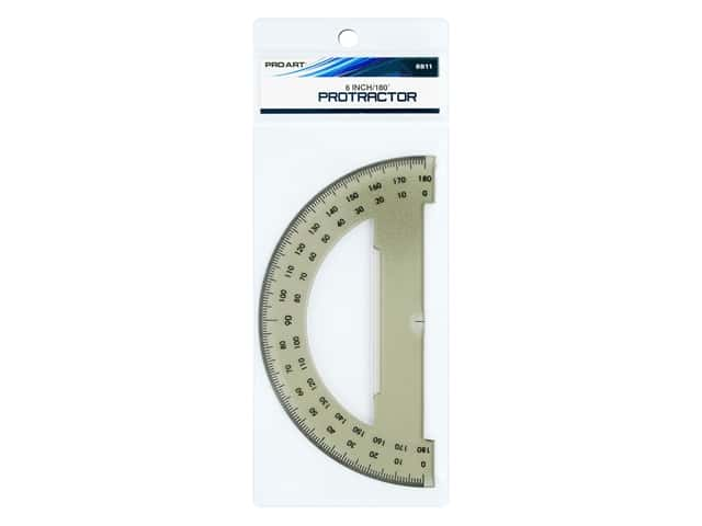 Pro Art 180 Degree Protractor - 6 in. Smoke