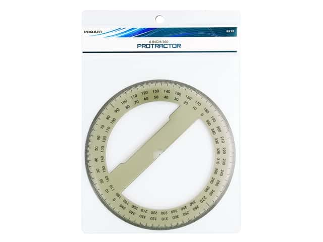 Pro Art 360 Degree Protractor - 6 in. Smoke
