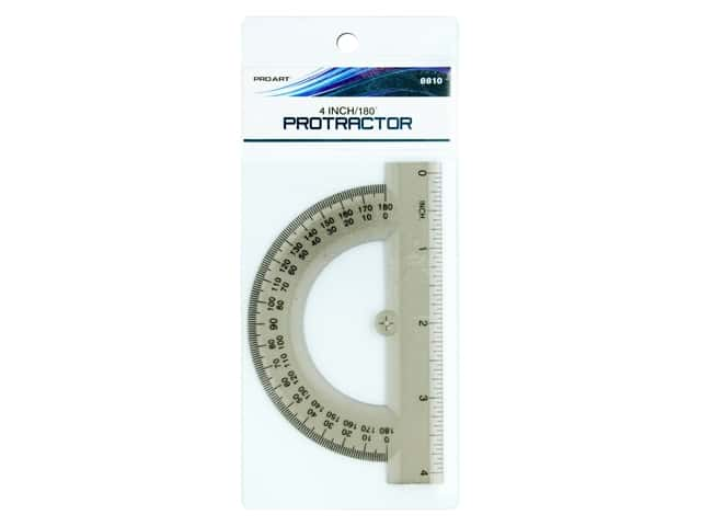 Pro Art 180 Degree Protractor - 4 in. Smoke