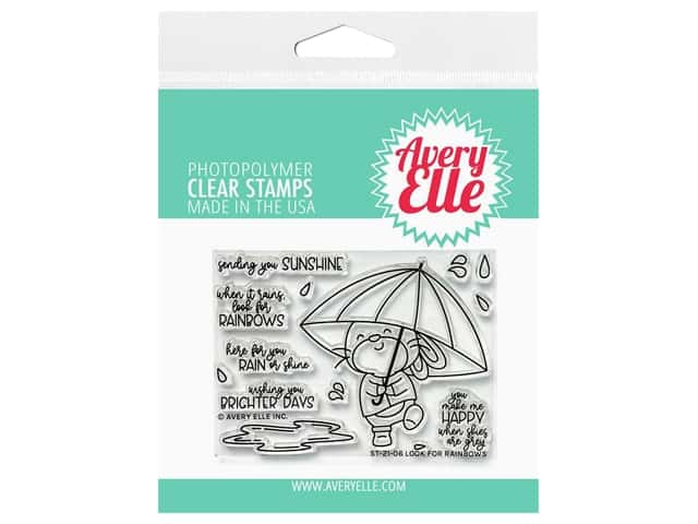 Avery Elle Clear Stamp Look For Rainbows
