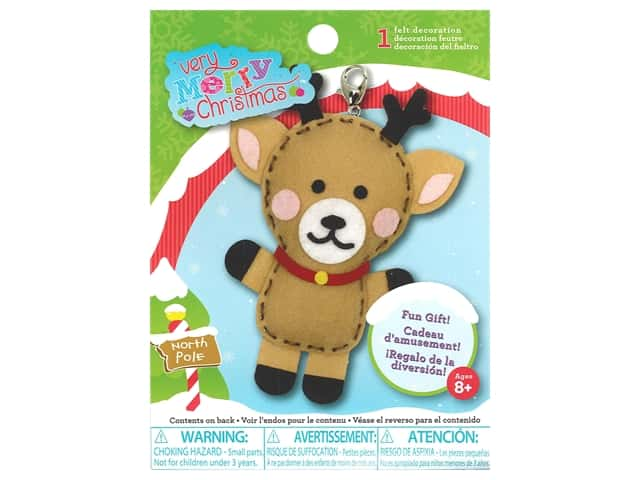 Colorbok Sew Cute! Backpack Clip Kit - Reindeer