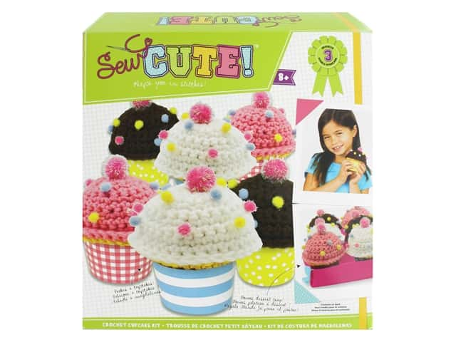 Colorbok Sew Cute! Crochet Kit - Bakery Cupcakes