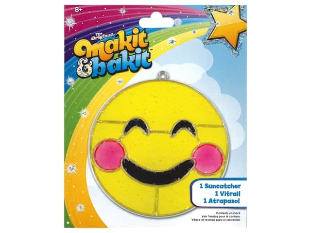 Colorbok Makit & Bakit Suncatcher Kit - Emoji Blushing