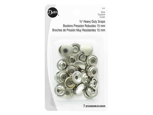 Dritz Heavy Duty Snaps - 5/8 in. Nickel 7 pc.