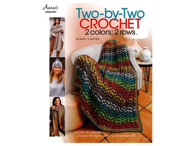 Two-by-Two Crochet: 2 Colors; 2 Rows Book