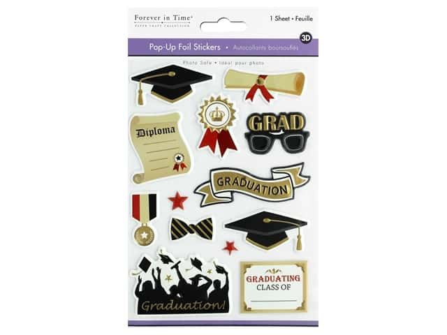 Multicraft Forever In Time Sticker Pop-Up Graduation