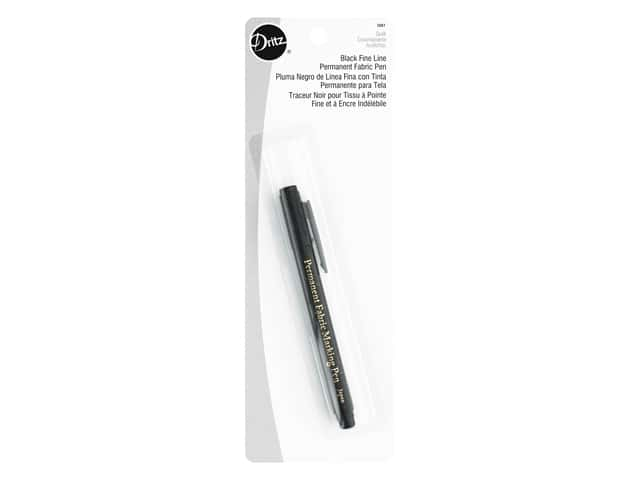 Dritz Permanent Fabric Pen - FIne Line Black