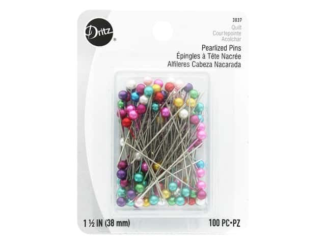 Dritz Pearlized Pins - 1 1/2 in. Multi 100 pc.