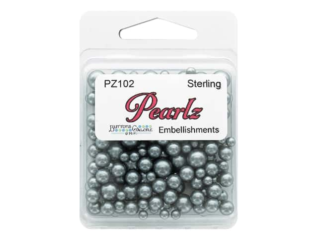 Buttons Galore Pearlz - Sterling