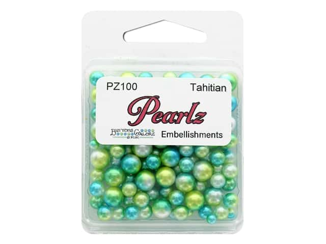 Buttons Galore Pearlz - Tahitian