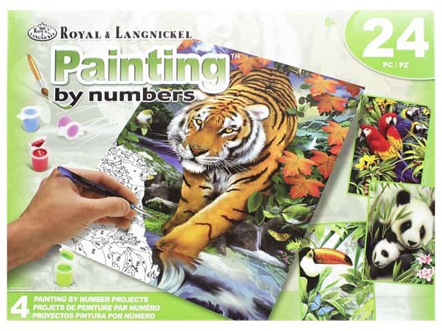 Royal Paint By Number Activity Set Tropical Life