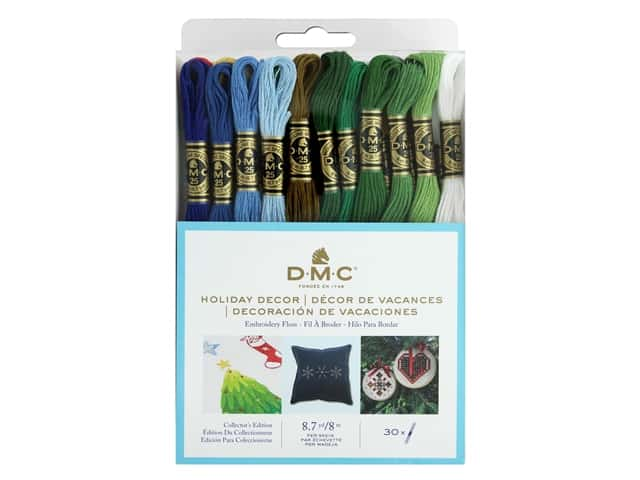 DMC Embroidery Floss Pack Six Strand Holiday Decor