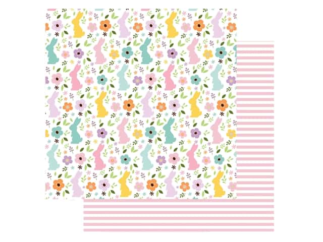 Echo Park Collection Welcome Easter Paper 12 in. x 12 in. Bunny Field