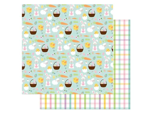 Echo Park Collection Welcome Easter Paper 12 in. x 12 in. Easter Icons