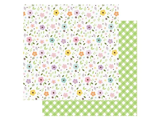 Echo Park Collection Welcome Easter Paper 12 in. x 12 in. Pastel Petals