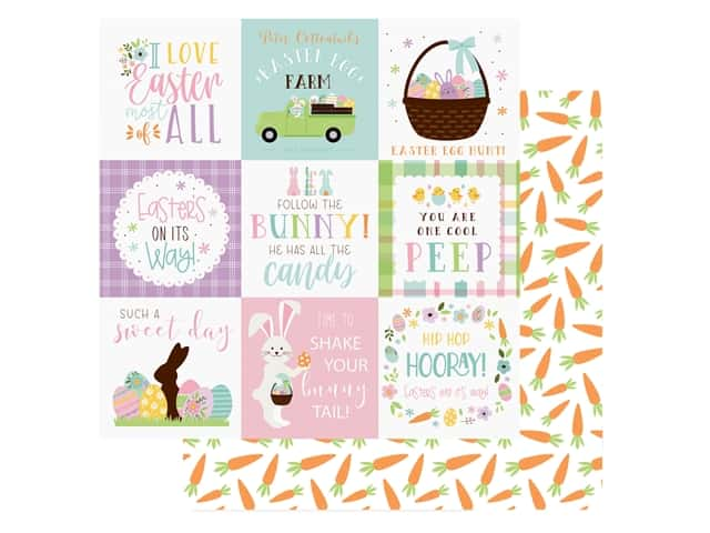 Echo Park Collection Welcome Easter Paper 12 in. x 12 in.  Journal 4 in. x 4 in.