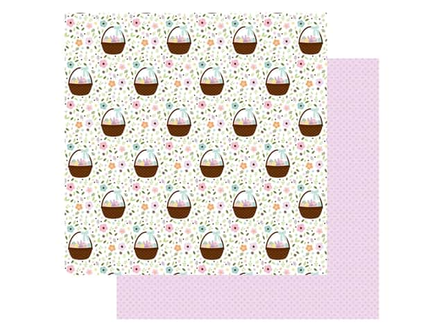 Echo Park Collection Welcome Easter Paper 12 in. x 12 in. Baskets Of Fun