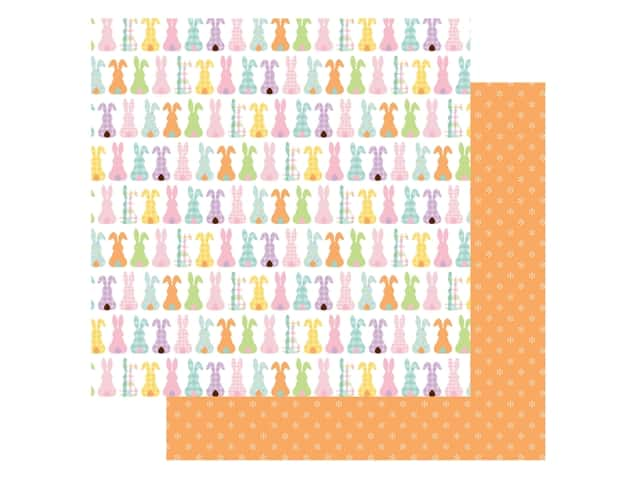 Echo Park Collection Welcome Easter Paper 12 in. x 12 in. Bunny Tails