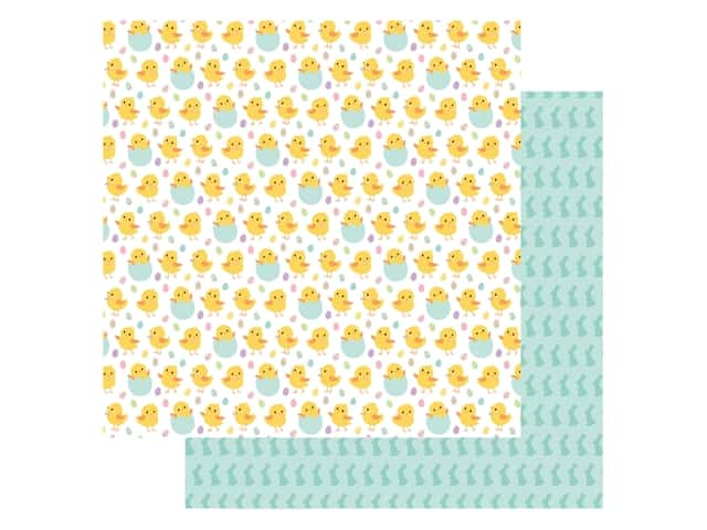 Echo Park Collection Welcome Easter Paper 12 in. x 12 in. Chirping Chicks