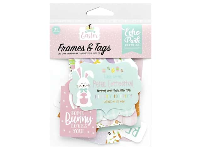 Echo Park Collection Welcome Easter Frames & Tags