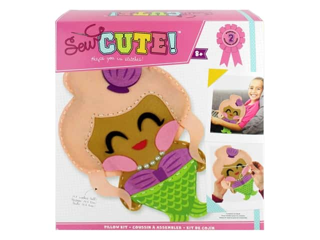 Colorbok Sew Cute! Felt Pillow Sewing Kit - Mermaid