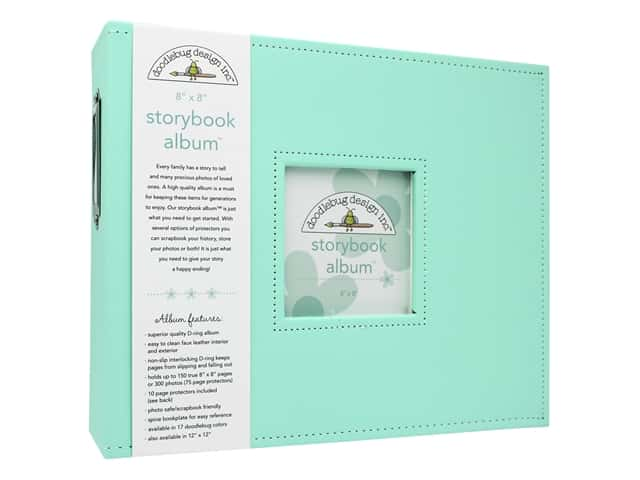 Doodlebug Album Storybook 8 in. x 8 in. Mint