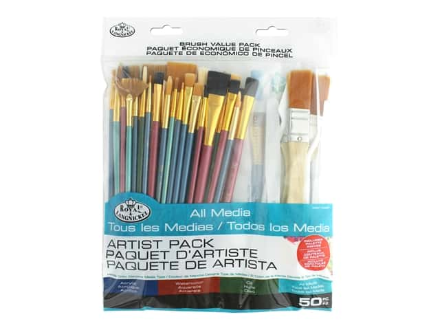 Royal Brush Set Value 50 pc All Media