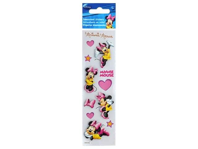 EK Disney Sticker 3D Slims Minnie Hearts