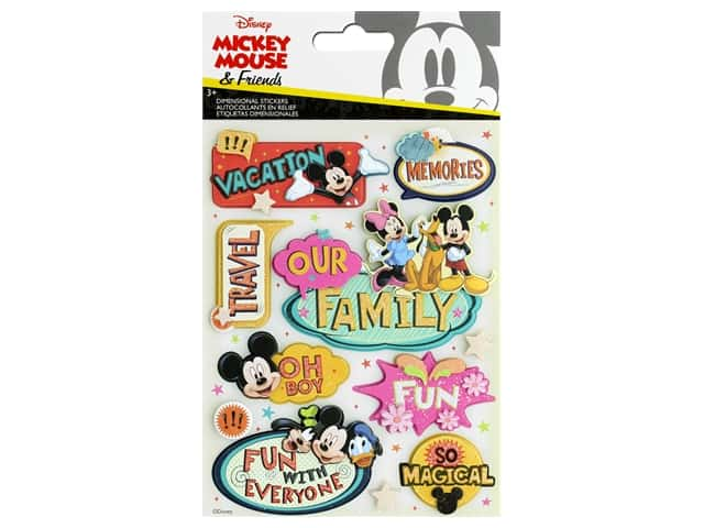 EK Disney Sticker 3D Mickey Family