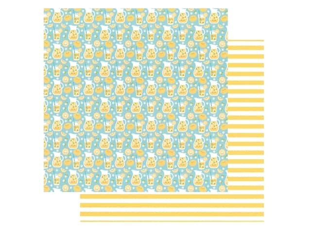 Doodlebug Collection Bar-B Cute Paper 12 in. x 12 in. Fresh Lemonade
