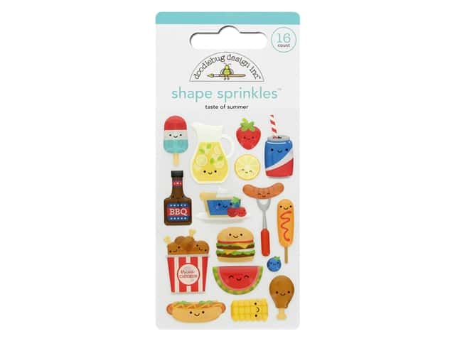 Doodlebug Shape Sprinkles - Taste Of Summer
